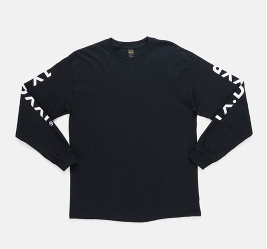 Picture of Branded L/S Tee Black