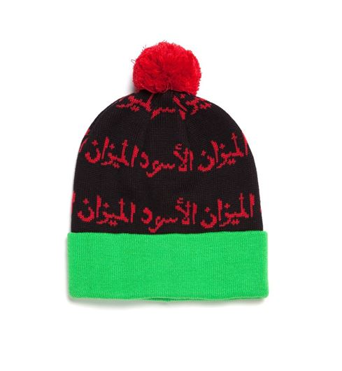 Picture of Scale of Black Beanie Red