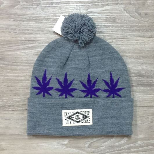 Picture of Leafy Beanie Grey