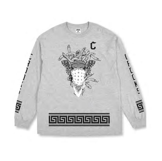 Picture of Crooks Standard L/S Tee Heather Grey