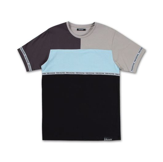 Picture of SCRIPT TAPE TEE Grey