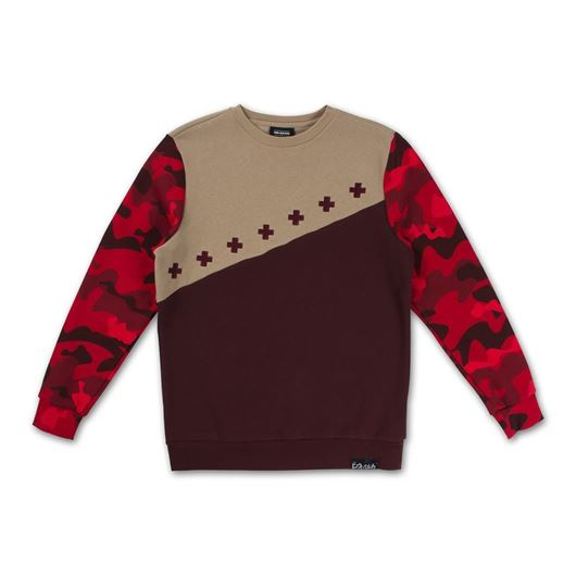 Picture of CAMO CONTOUR CREWNECK Red