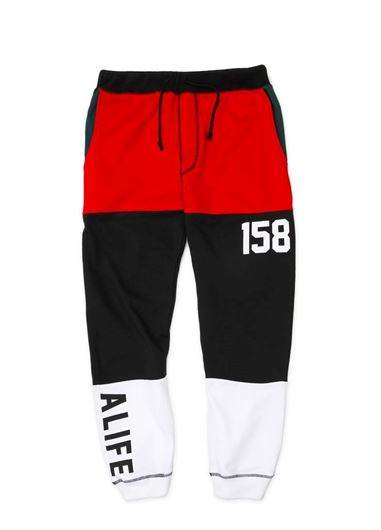 Picture of TRI-BLOCKED JOGGER Black