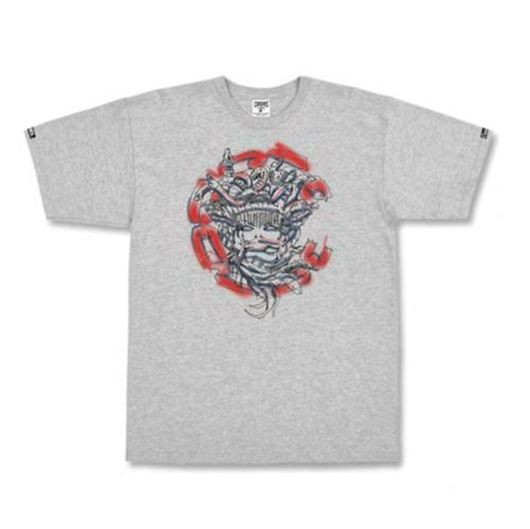 Picture of Roughed Out Medusa Tee Grey