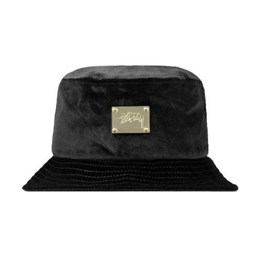 Picture of Lux Velvet Bucket Hat Black