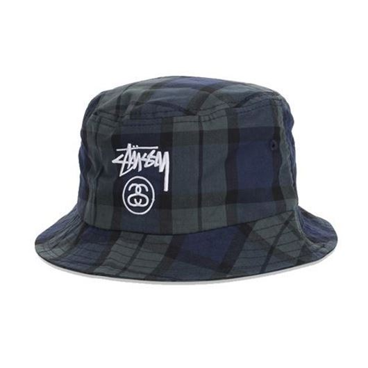 Picture of Stock Lock Plaid Bucket Hat Black