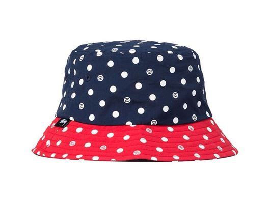 Picture of SS Dot Bucket Hat Navy