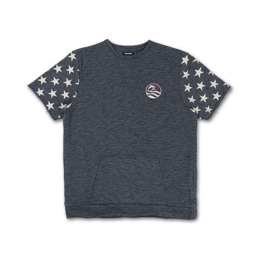 Picture of WAVES & STARS CREWNECK Navy