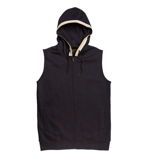 Picture of Ribbed Hooded Vest Black
