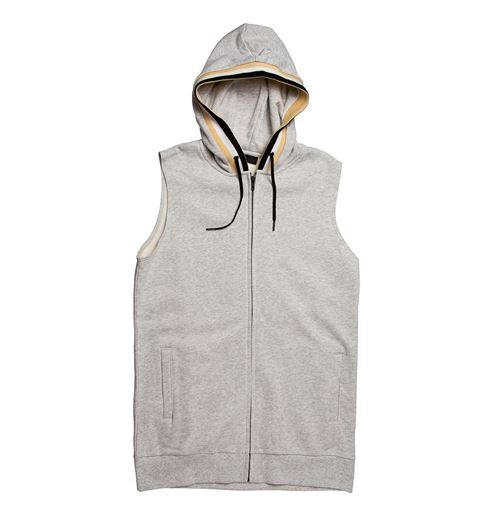 Picture of Ribbed Hooded Vest Grey