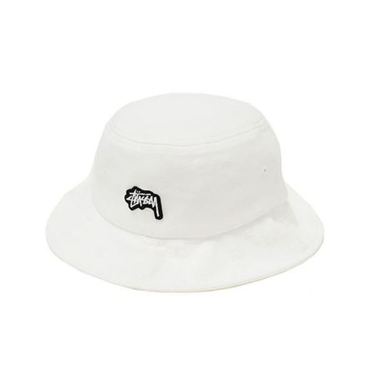 Picture of Stock Logo Pique Bucket Hat White