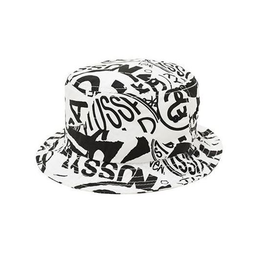 Picture of Tear Print Bucket Hat Black