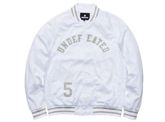 Picture of Mesh Varsity Jacket White