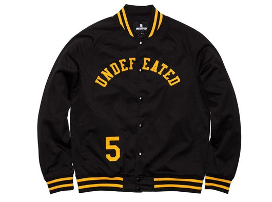 Picture of Mesh Varsity Jacket Black