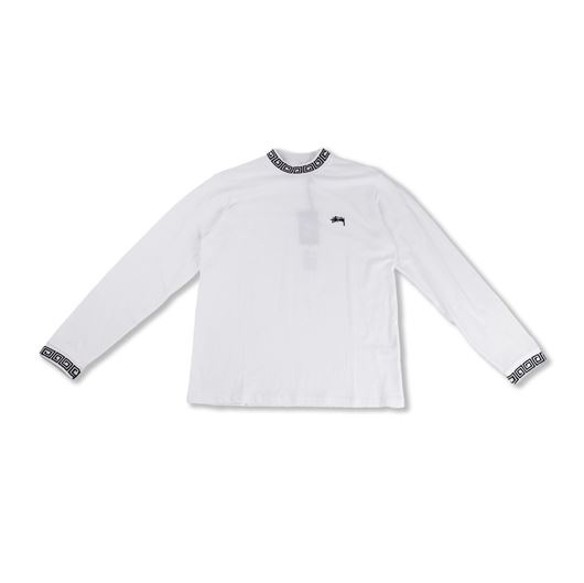 Picture of Spiral Collar Crew White