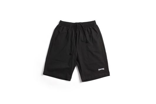 Picture of COTTON TWILL DRAW STRING SHORTS Black