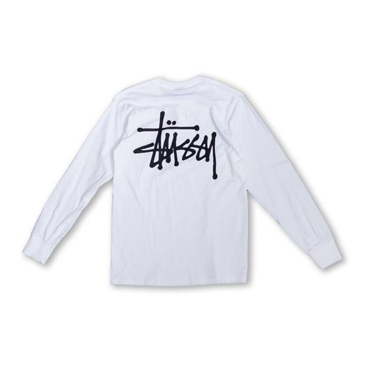 Picture of Basic Stussy LS Tee White
