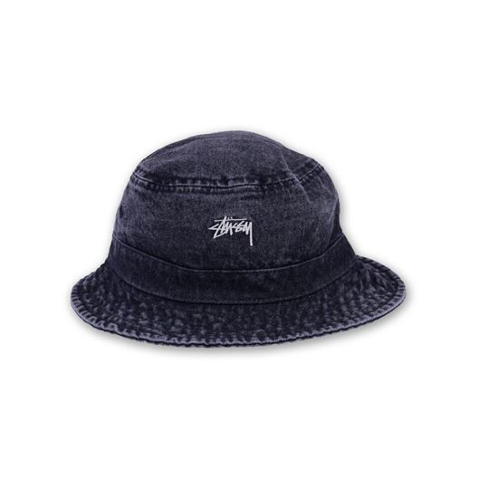 Picture of Washed Denim Bucket Hat Black