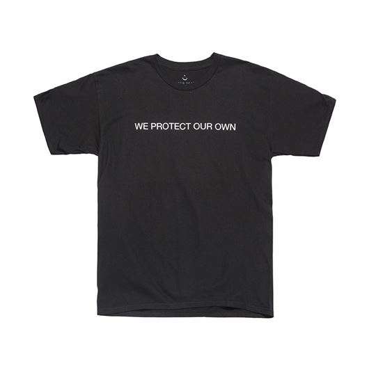 Picture of WE PROTECT OUR OWN Tee Black