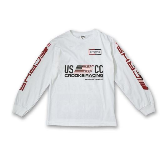 Picture of U.S. Crooks Racing L/S Tee White