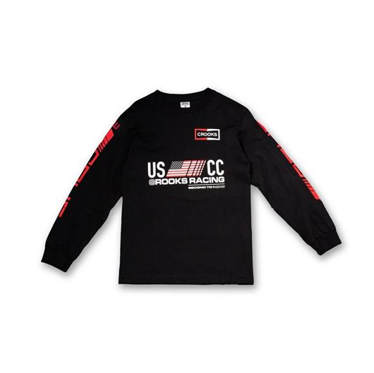 Picture of U.S. Crooks Racing L/S Tee Black