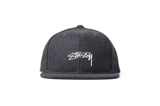Picture of Smooth Stock Melton Wool Snapback Black