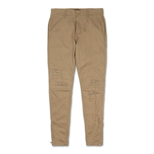 Picture of DISTRESS BIKER TWILL PANT Creme