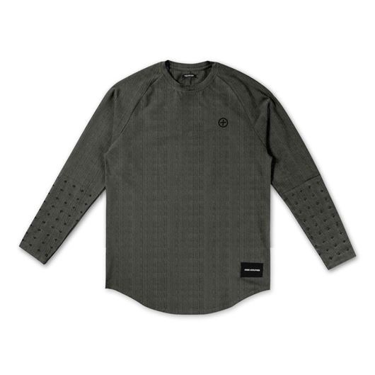 Picture of PROSPERITY SCALLOP L/S TEE Charcoal