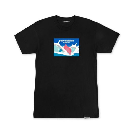 Picture of SPLASH SCRIPT TEE Black