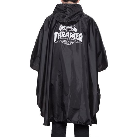 Picture of Thrasher Packable Poncho-Indy Black