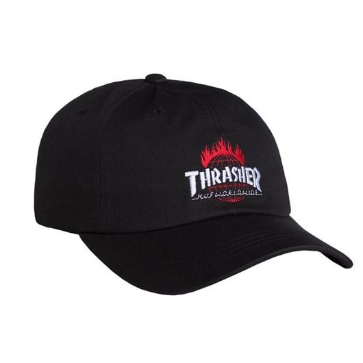 Picture of Thrasher TDS Curve Visor 6 Panel Black