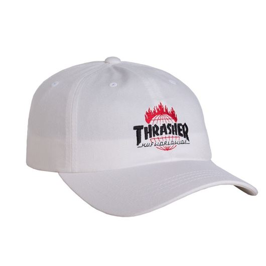 Picture of Thrasher TDS Curve Visor 6 Panel White