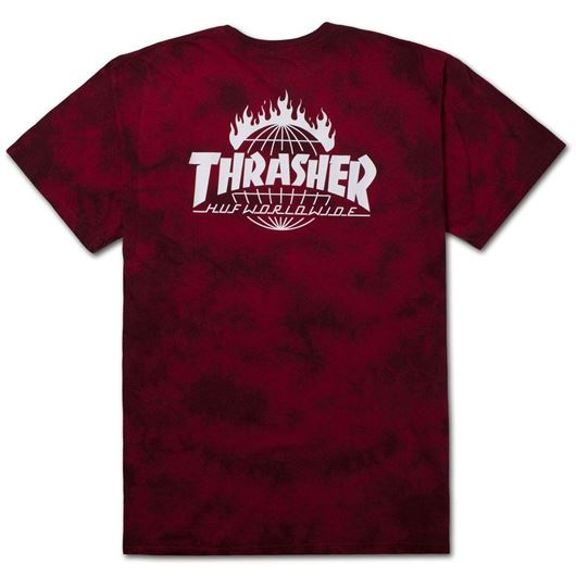 Picture of Thrasher tds crystal wash tee Red