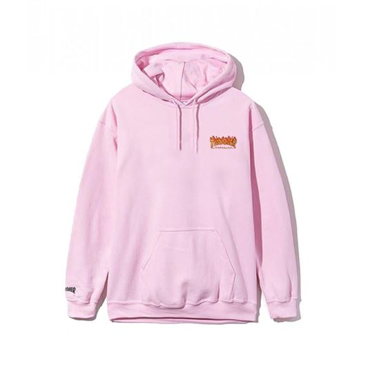 Picture of FLAME PULLOVER HOODED SWEATSHIRT Pink