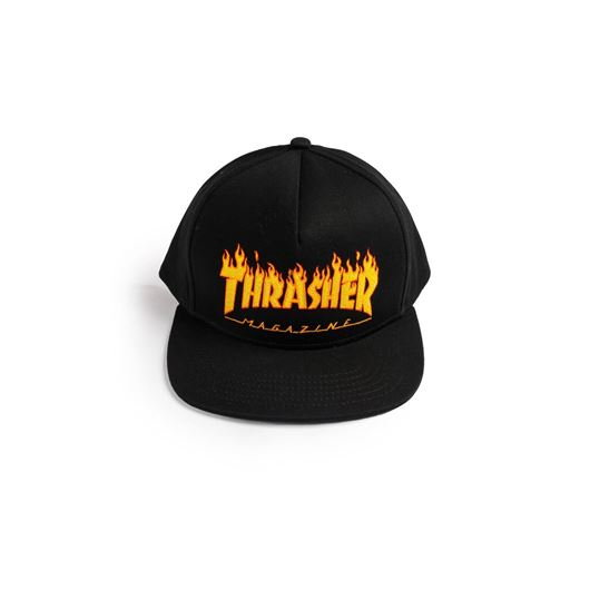 Picture of FLAME CAP 5-PANEL EMBROIDERED Black