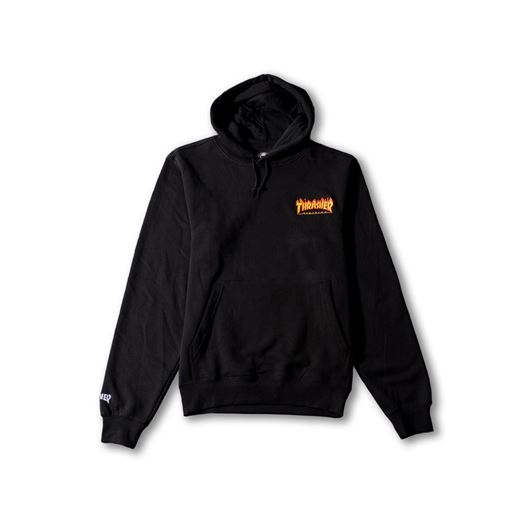 Picture of FLAME PULLOVER HOODED SWEATSHIRT Black