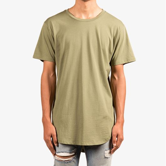 Picture of Split-Back Scallop Tee Olive