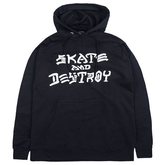 Picture of SKATE AND DESTROY HOOD Black