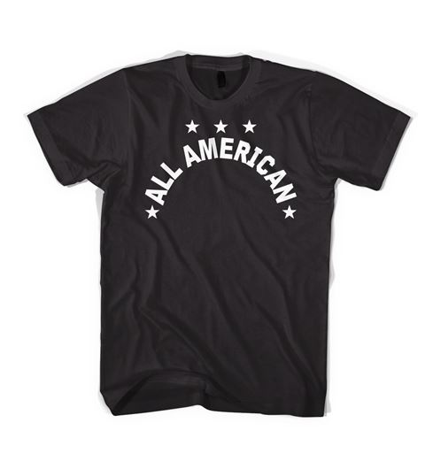 Picture of ALL-AMERICAN TEE Black