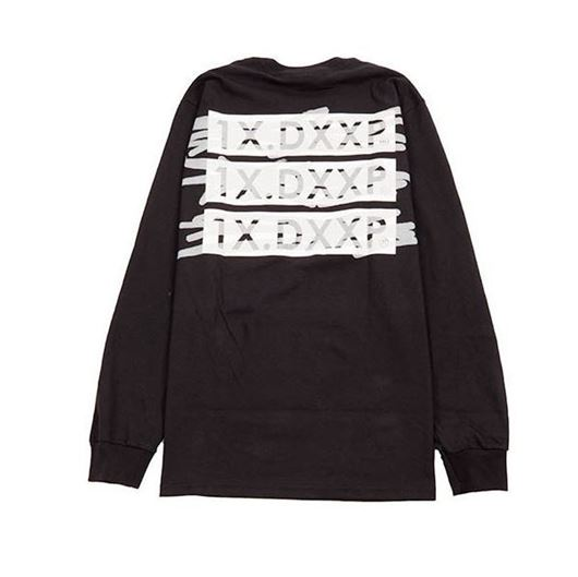 Picture of WTH STACK L/S Tee Black