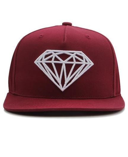 Picture of Brilliant Snapback Diamond Burgundy