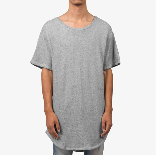 Picture of Loose Terry Scallop Tee Grey