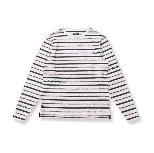 Picture of NULL STRIPED Tee White