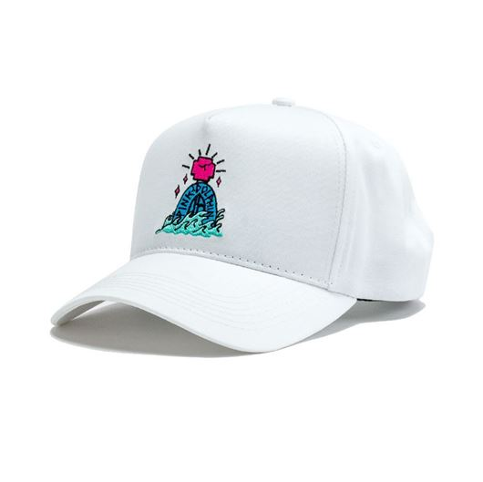 Picture of TOMBSTONE 5-PANEL STRUCTURED SNAPBACK White