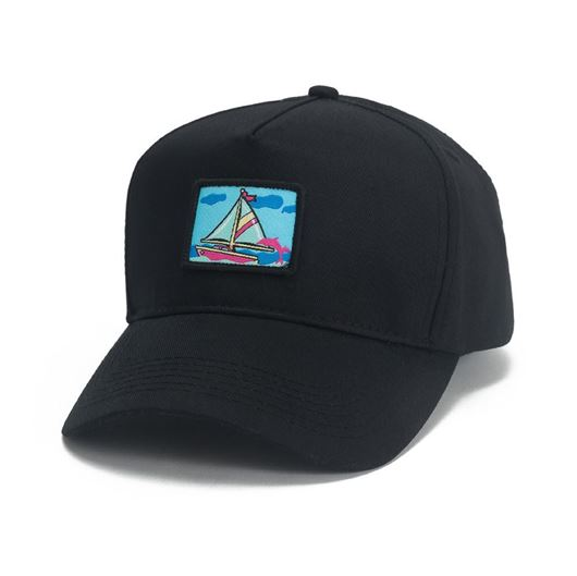 Picture of PORTRAIT ONE 5-PANEL STRUCTURED SNAPBACK Black