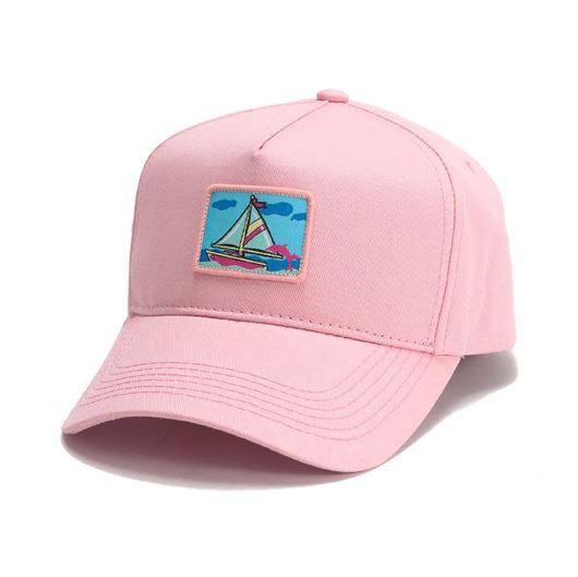 Picture of PORTRAIT ONE 5-PANEL STRUCTURED SNAPBACK Pink