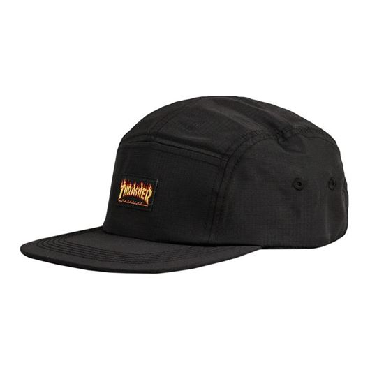 Picture of FLAME LOGO 5-PANEL HAT Black