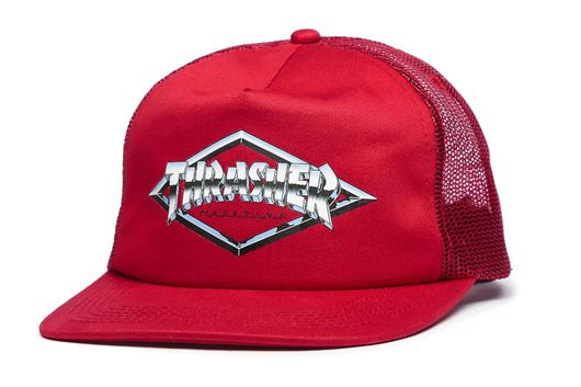 Picture of DIAMOND EMBLEM TRUCKER HAT Red