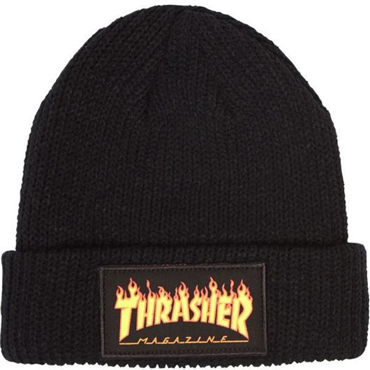 Picture of FLAME LOGO BEANIE Black