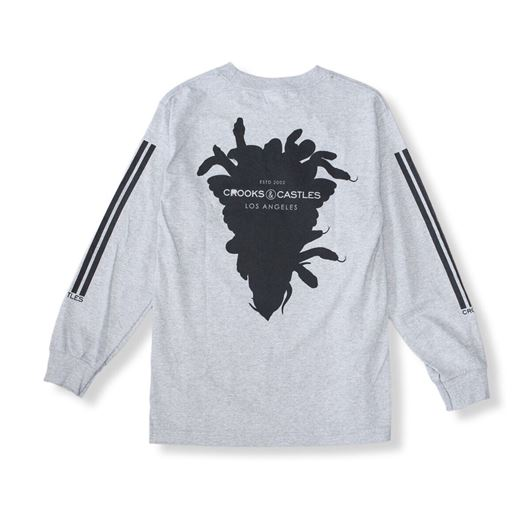 Picture of Banding L/S Tee Heather Grey